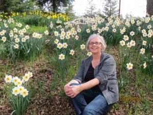 Me among the daffodils.