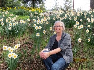 Me among the daffodils.