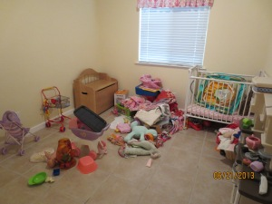 The playroom after everything else is removed.