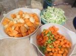 Cut up veggies.